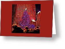 Rockefeller Center Christmas Tree Greeting Card