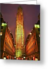 Rockefeller Center Greeting Card by Evelina Kremsdorf