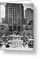 Rockefeller Center Plaza Greeting Card