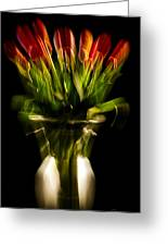 Rocket Propelled Tulips Greeting Card