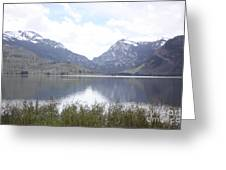 Rockies Over The Lake Greeting Card