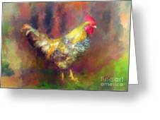 Rockin' Rooster Greeting Card