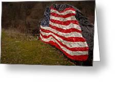 Rockin' The Flag Greeting Card