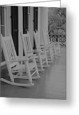 Rocking Chairs  Greeting Card