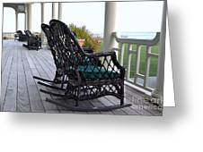 Rocking Chairs On The Porch Greeting Card