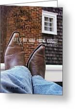 Rocking Kicks Quote Greeting Card
