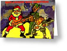 Rocking Roll Christmas Card Greeting Card