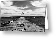 Rockland Breakwater Lighthouse Greeting Card