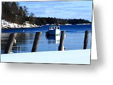 Rockport Blue Greeting Card