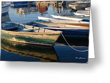 Rockport Dinghies Greeting Card by AnnaJanessa PhotoArt