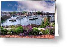Rockport In Bloom Greeting Card