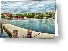Rockport Inner Harbor Greeting Card