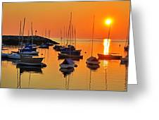 Rockport Ma Boats Rockport Harbor Greeting Card