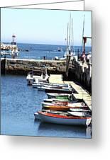 Rockport Ma Inner Harbor Greeting Card