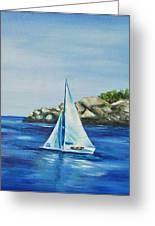 Rockport Sails Greeting Card