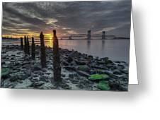 Rocks And Bridge Greeting Card
