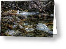 Rocks And Little Water Greeting Card
