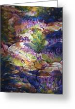 Rocks And Lupine    Sold Greeting Card