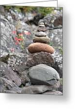 Rocks And Roses Greeting Card