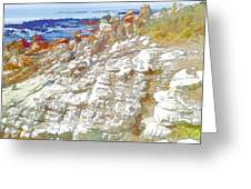 Rocks And Sea Greeting Card by Jan Hattingh