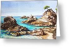 Rocks At Kalamaki Greeting Card