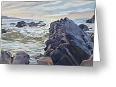 Rocks At Widemouth Bay, Cornwall Greeting Card