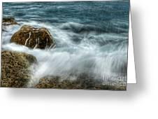 Rocks Awash Greeting Card