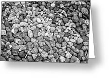 Rocks From Beaches In Black And White Greeting Card