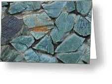 Rocks In A Wall Greeting Card