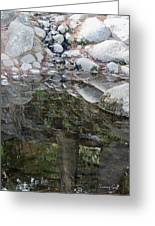 Rocks In Reflection Greeting Card