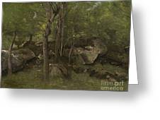 Rocks In The Forest Of Fontainebleau Greeting Card