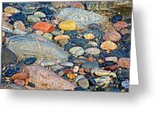 Rocks Of Many Colors On Lake Superior Shoreline In Pictured Rocks National  Greeting Card