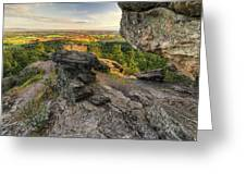 Rocks Of Sharon Overlook Greeting Card