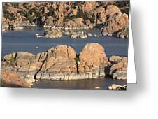 Rocks Of Watson Lake  Greeting Card