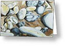 Rocks On Beach Greeting Card