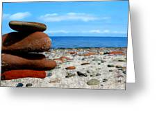Rocks On The Beach Greeting Card