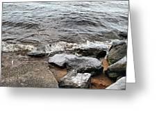Rocks On The Chesapeake Greeting Card