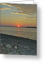 Rocks Watch The Sunset Greeting Card