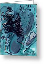 Rocksntrees Abstract Greeting Card