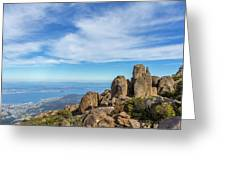 rocky Australian mountain summit Greeting Card