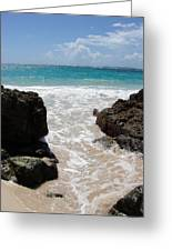 Rocky Beach In The Caribbean Greeting Card