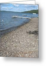 Rocky Beach On A Lake Greeting Card