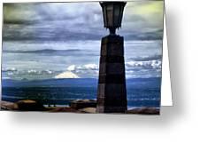 Rocky Butte View Greeting Card by John Winner