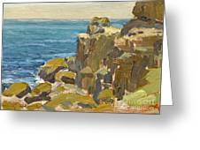 Rocky Cliffs Catalina Island Greeting Card