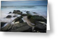 Rocky Coast Of New Jersey Greeting Card