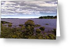 Rocky Cove In Sydney British Columbia Greeting Card
