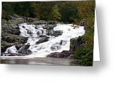 Rocky Falls Greeting Card by Marty Koch