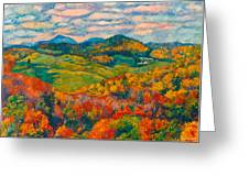 Rocky Knob In Fall Greeting Card