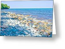 Rocky Lake Superior Shoreline Near North Country Trail In Pictured Rocks National Lakeshore-michigan Greeting Card