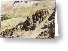 Rocky Landscape - 3 - French Alps Greeting Card